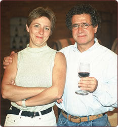 Laurence Brun and her father Laurent Dassault