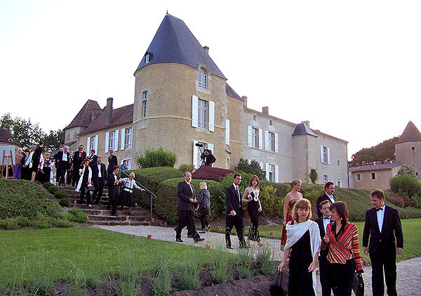 Guests at Vinexpo - Château d'Yquem