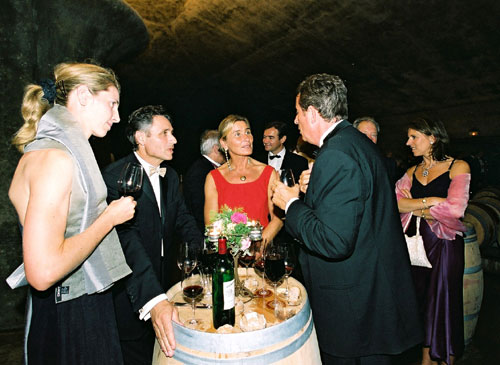 Enjoying fine Wine in the Cellars -  Photo credit:  Groupement de 1er Grands Crus de Saint Emilion